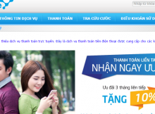 Thanh toan cuoc tra sau bang Payment Online
