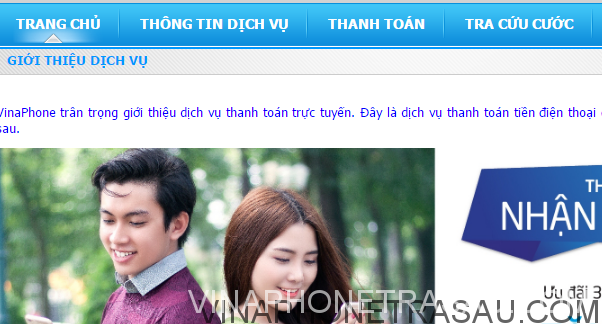 Thanh toan cuoc tra sau vinaphone online